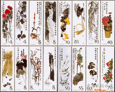 小鸡邮票手绘图片